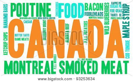 Canada Food Word Cloud