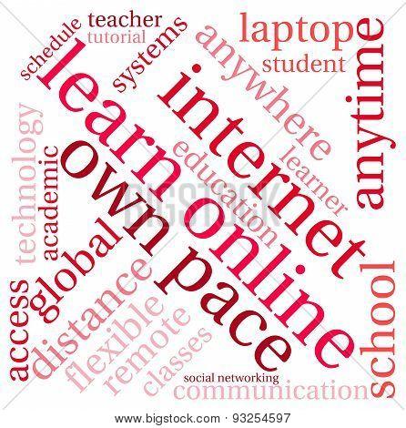 Learn Online Word Cloud