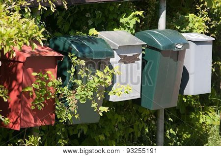 Mailboxes made of plastic