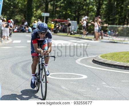 The Cyclist Jerome Pineau - Tour De France 2014