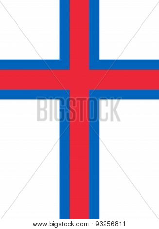 Flag Of Faroe Islands Vertical