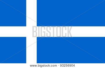 Flag Of Shetland Horizontal