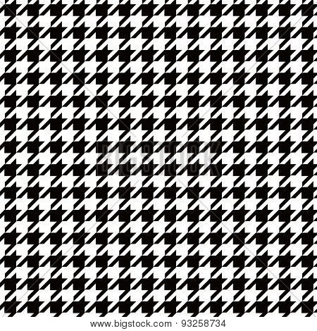 Seamless houndstooth black and white pattern background image