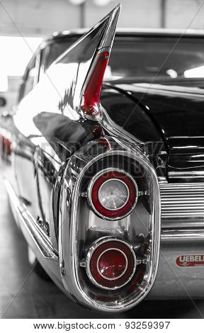Rear Lights And Distinctive Profile Of A Vintage American Car