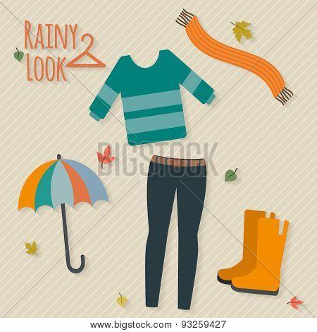 Casual rainy autumn clothing