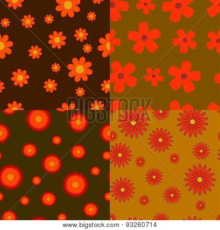 Autumn Flowers Seamless Textures