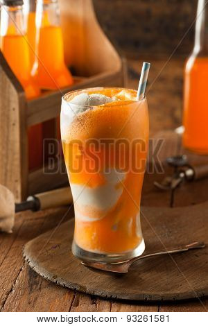 Orange Soda Creamsicle Ice Cream Float