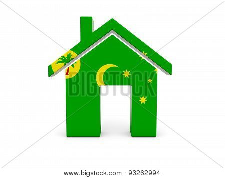 Home With Flag Of Cocos Islands