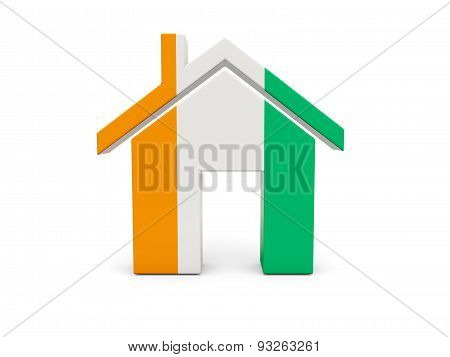 Home With Flag Of Cote D Ivoire