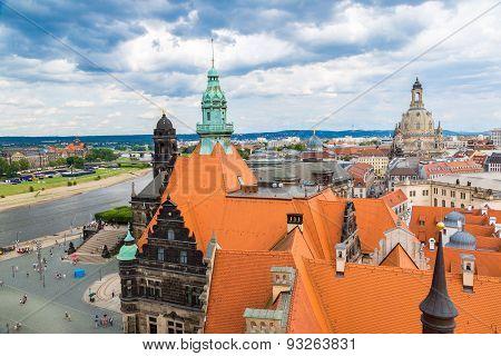 Dresden And Frauenkirche Church