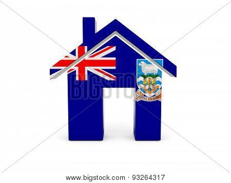 Home With Flag Of Falkland Islands
