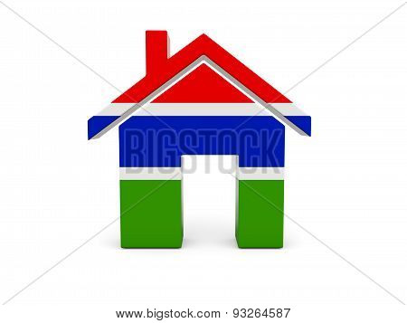 Home With Flag Of Gambia