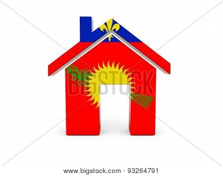 Home With Flag Of Guadeloupe