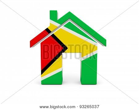 Home With Flag Of Guyana