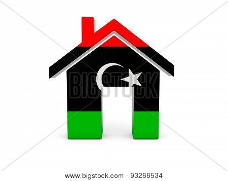 Home With Flag Of Libya