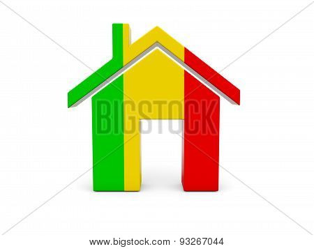 Home With Flag Of Mali