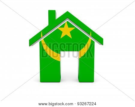 Home With Flag Of Mauritania