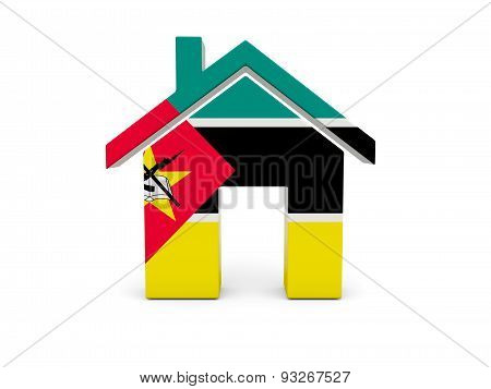 Home With Flag Of Mozambique