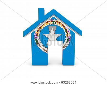 Home With Flag Of Northern Mariana Islands