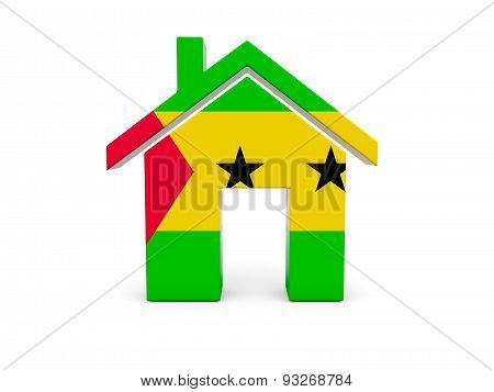 Home With Flag Of Sao Tome And Principe