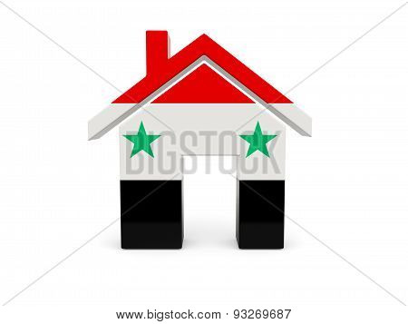 Home With Flag Of Syria