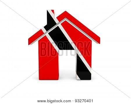 Home With Flag Of Trinidad And Tobago
