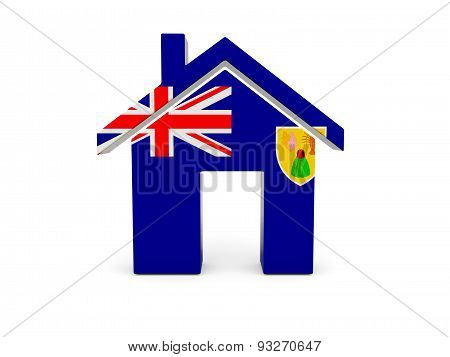 Home With Flag Of Turks And Caicos Islands