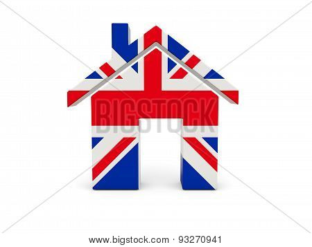 Home With Flag Of United Kingdom