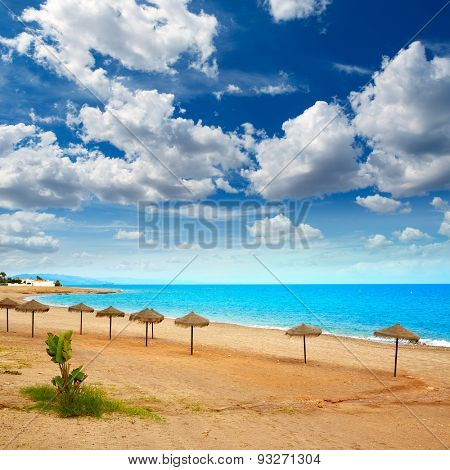 Almeria Mojacar beach in Mediterranean sea of Spain