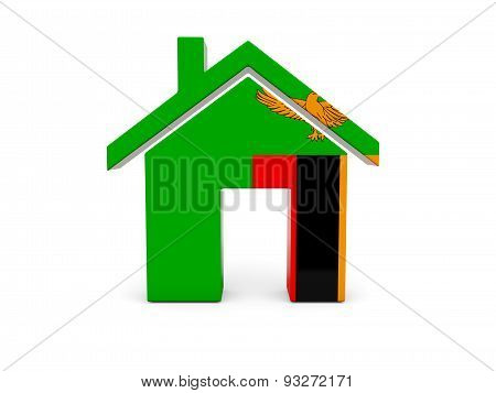 Home With Flag Of Zambia
