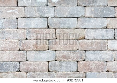 Background Texture Of A Tumbled Brick Wall