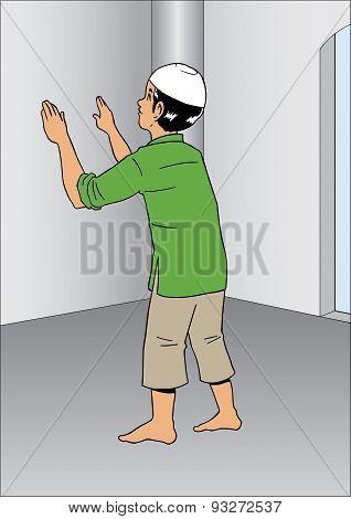Asian man at Mosque