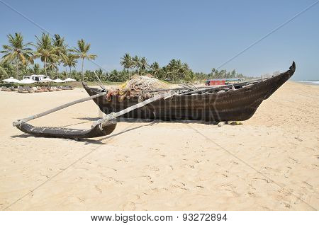 Traditional indian fishing boat