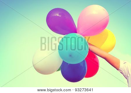 multi colored balloons