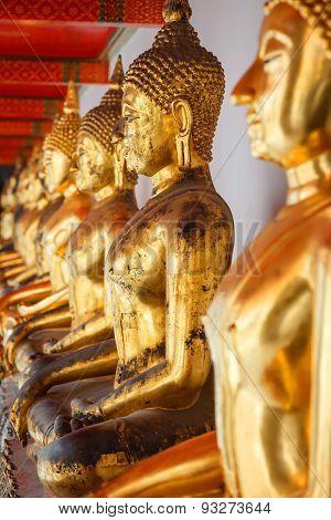 Buddha Statue in Wat Pho (Pho Temple) in Bangkok