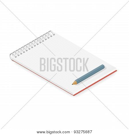 Detailed Notebook Isometric