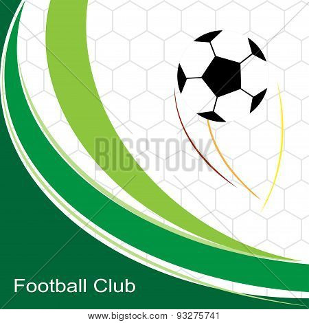 Abstract Soccer Football . Background With Soccer Football Design . Vector Illustration