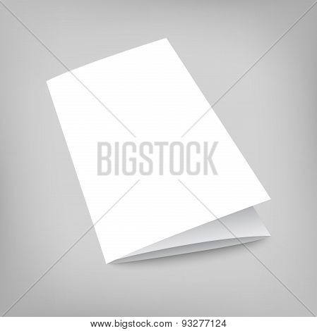 Vector blank tri fold cover flyer on gray background