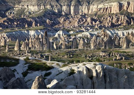 View Of Cappadocia Valley At Sun Sunset