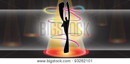 Gymnastics Ribbon Dance