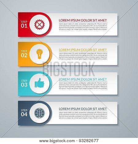 Infographic design number options template