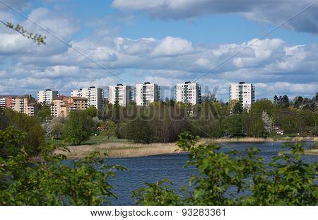 High rise buildings in Bergshamra