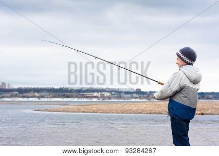 Boy On The Fishing