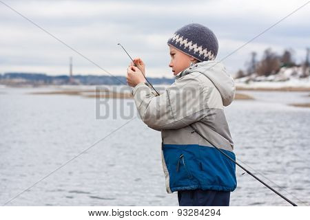 Boy With Spinning On The River