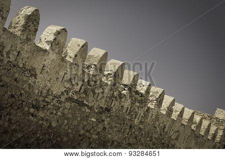 Kales Fort In Lerapetra Retro Style