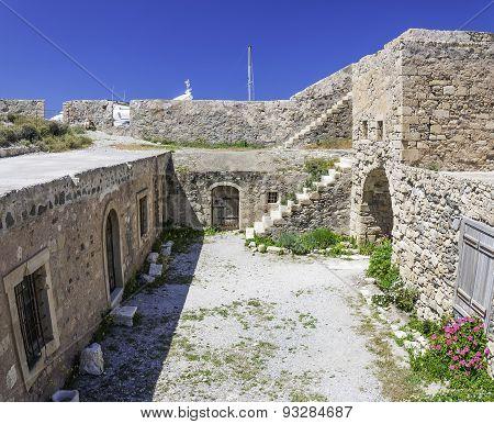 Kales Fort Yard In Lerapetra