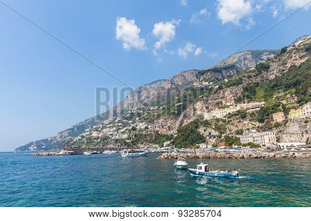 View Of Amalfi In South Italy