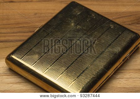 Scratched And Worn Old Fashioned Cigarette Case