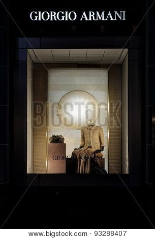 Retail Shop Display Of Giorgio Armani