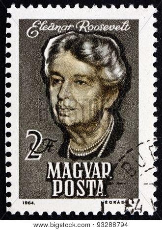 Postage Stamp Hungary 1964 Eleanor Roosevelt, Presidential Spouse